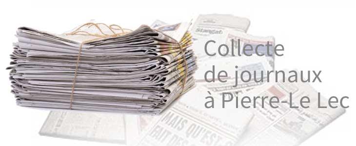 Collecte de journaux à l'école Pierre-Le Lec Audierne