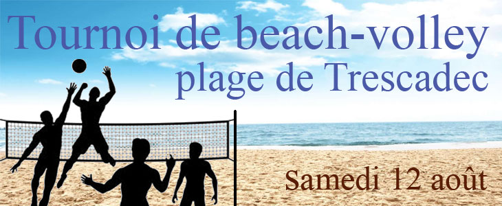 Beach-volley plage de Trescadec Audierne