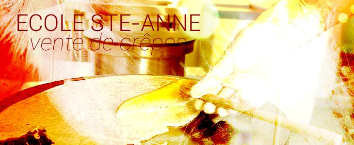 Ecole Ste Anne; vente de crêpes Audierne