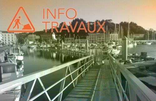 Travaux au port de plaisance Audierne