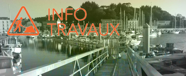 Travaux au port de plaisance Audierne